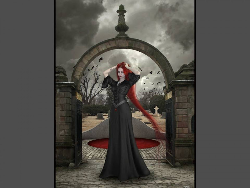 The Girl At The Entrance To The Cemetery, Gothic