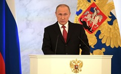 Vladimir Putin addressed Federal Assembly.