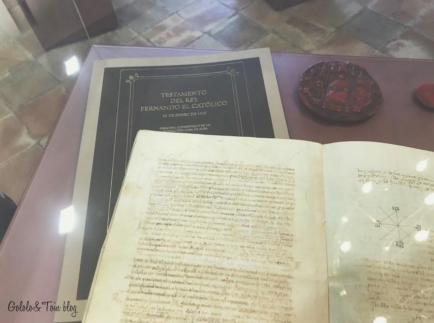 Testamento de Fernando el Católico en el Palacio de los Sada
