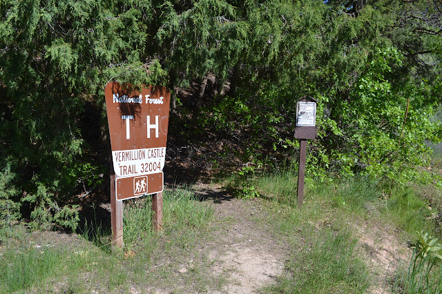 signs at the trailhead