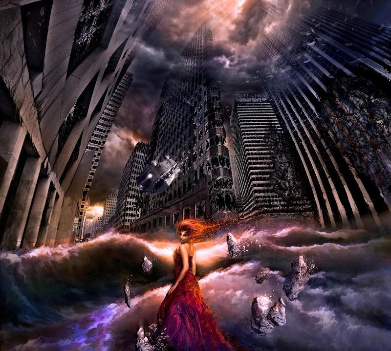 Lady In Red In Dead City, Fiction 2