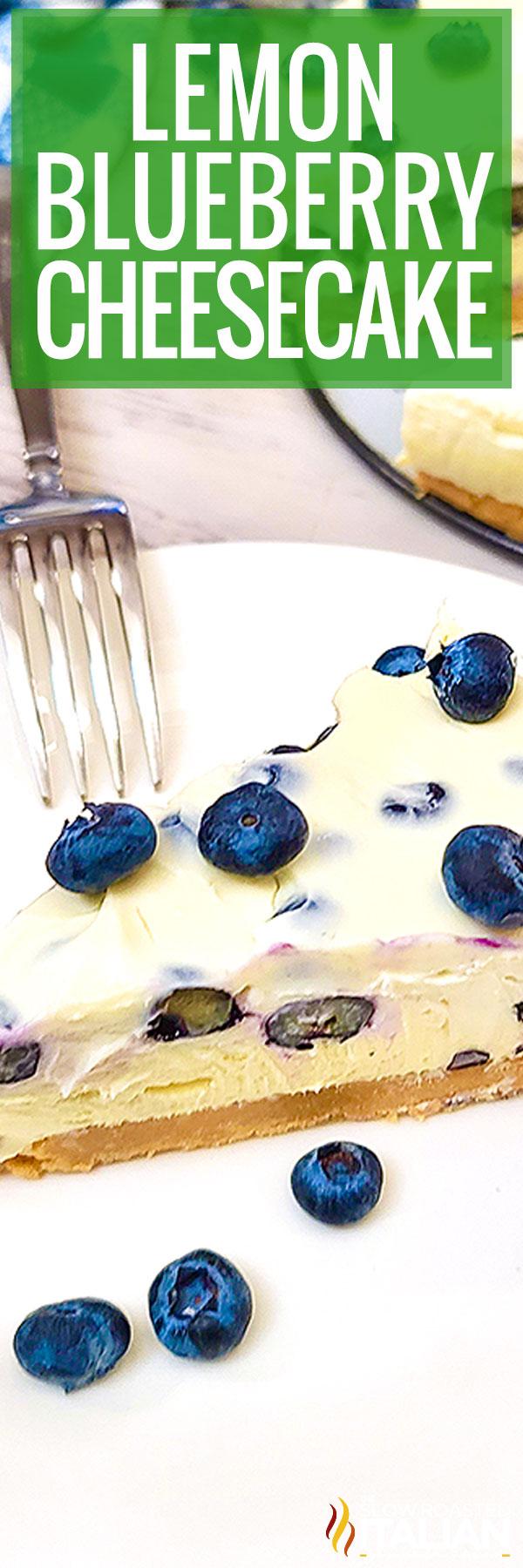 Lemon Blueberry Cheesecake (No Bake)