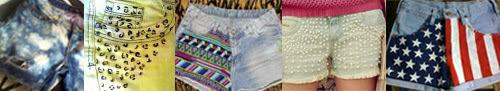 customização de shorts