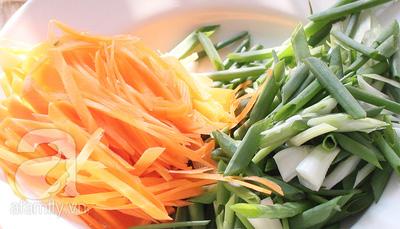 cắt sợi rau củ