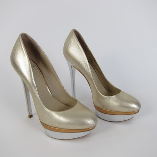 Brian Atwood Metallic Stilettos