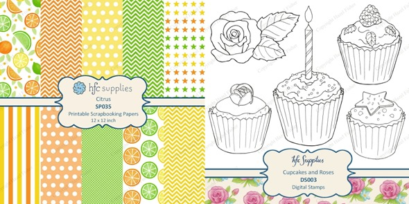 Celebrate Citrus Cake Card diy tutorial hazel fisher creations 2