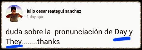 Diferencia entre pronunciación de DAY y THEY en inglés