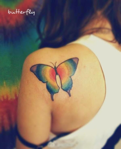 Butterfly shoulder tattoos