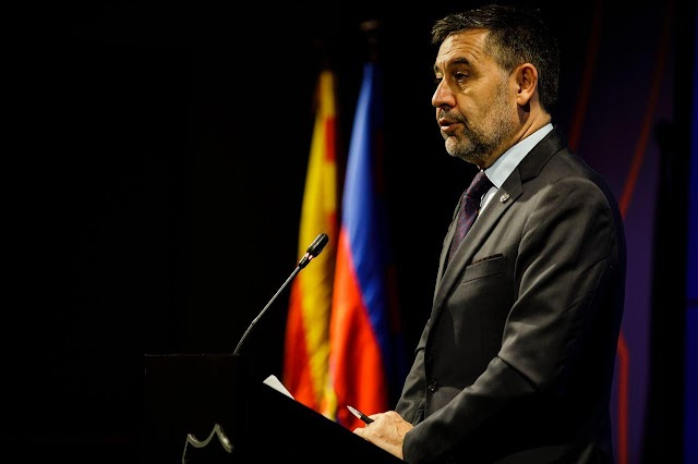 Fc Barcelona President Bartomue Resigns With Entire Board Members