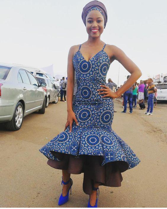 African Shweshwe Wedding Dresses For Ladies 4