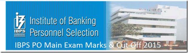 ibps po main exam cut Off marks