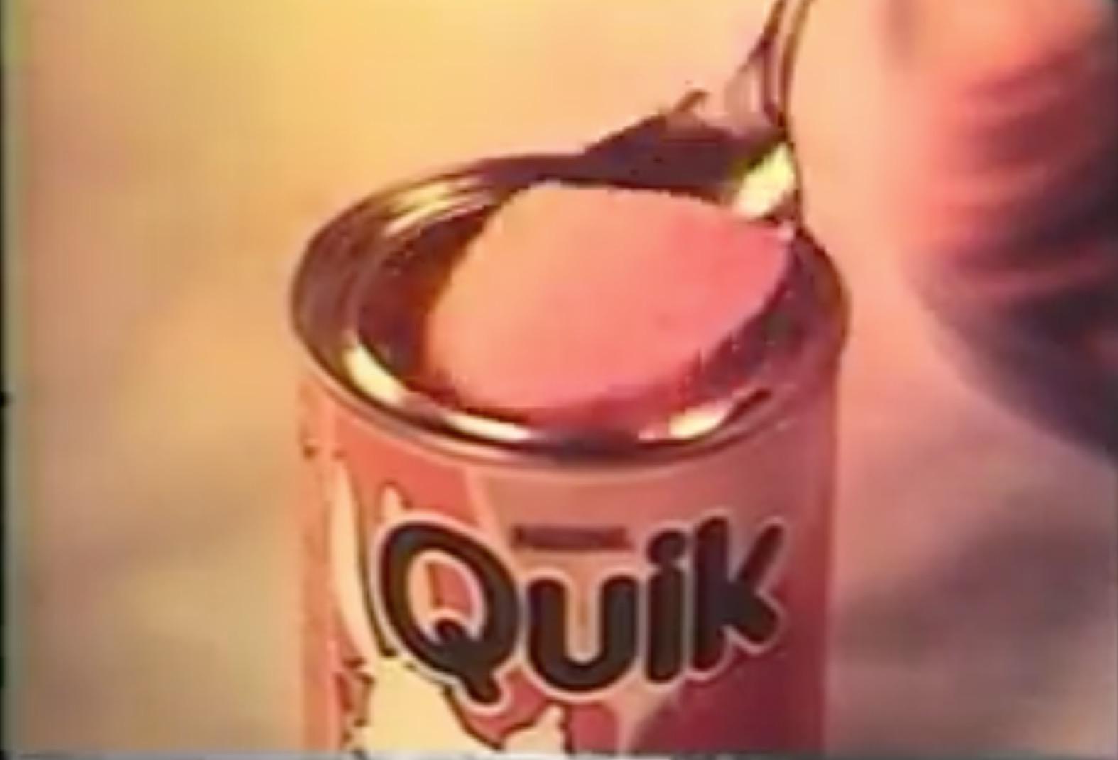 Campanha de lançamento do achocolatado Quik da Nestlé em 1980