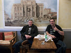 Mark and Sergio Bellotti. Breakfast in Lugano, Switzerland. May 2010