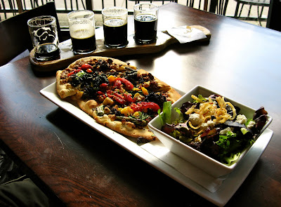 Fall Flatbread and salad