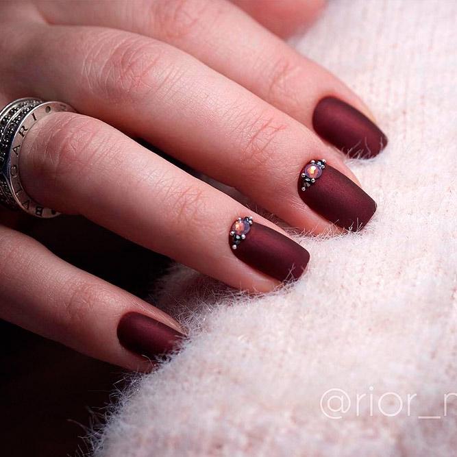 32 Stunning Burgundy Nail Art Polish Ideas Nails C