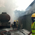 Fire engulfs Access Bank, Victoria Island, Lagos