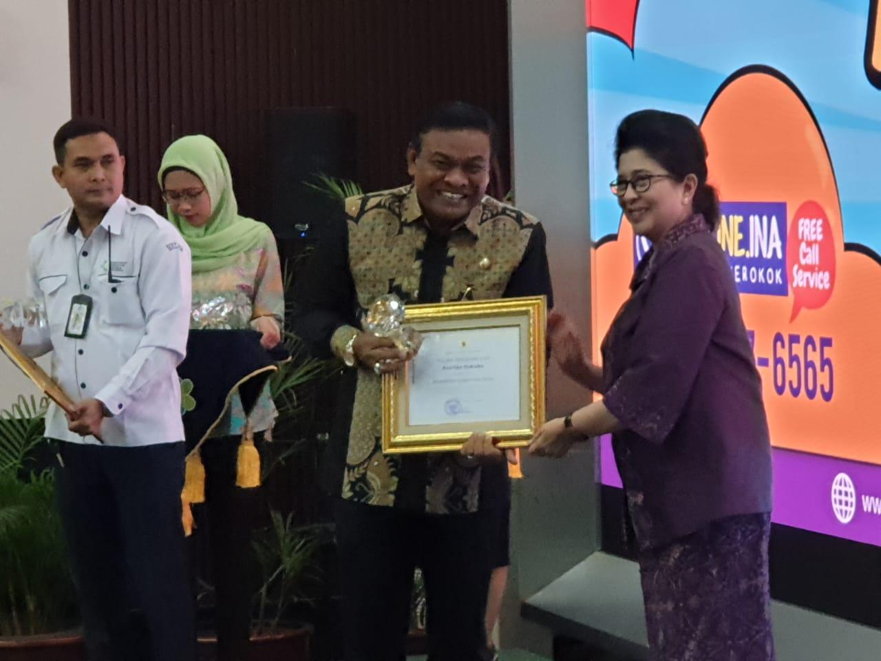 Sukses Terapkan KTR, Bupati Bone Terima Penghargaan Pastika Parama