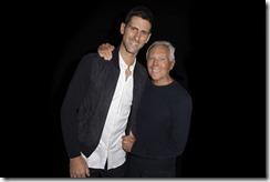Novak Djokovic e Giorgio Armani - SGP
