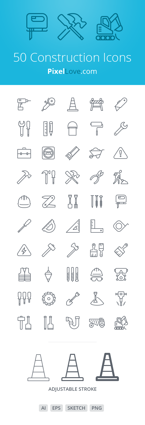 Free Download 50 Construction Icons for iOS 8