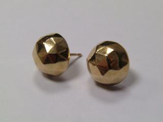 14 K Gold Geometric Studs
