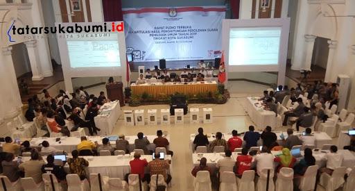 KPU Kota Sukabumi Gelar Rekapitulasi Perolehan Suara Pemilu 2019