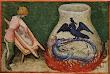 Aurora Consurgens Manuscript Fig4 Ouroboros Dragon Boils In A Flask