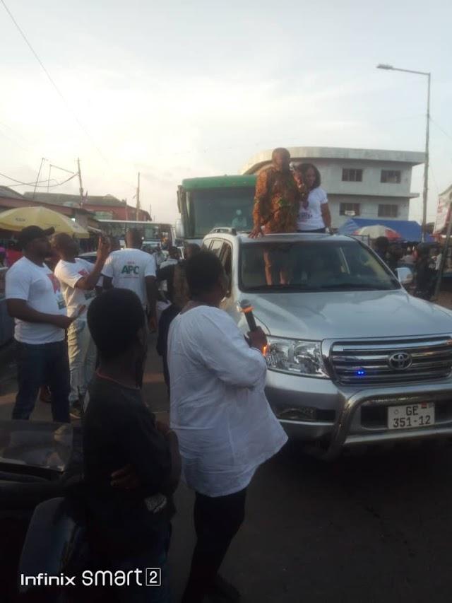 Ayariga and Wife Visits James Town