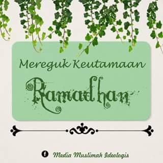 Mereguk Keutamaan Ramadhan