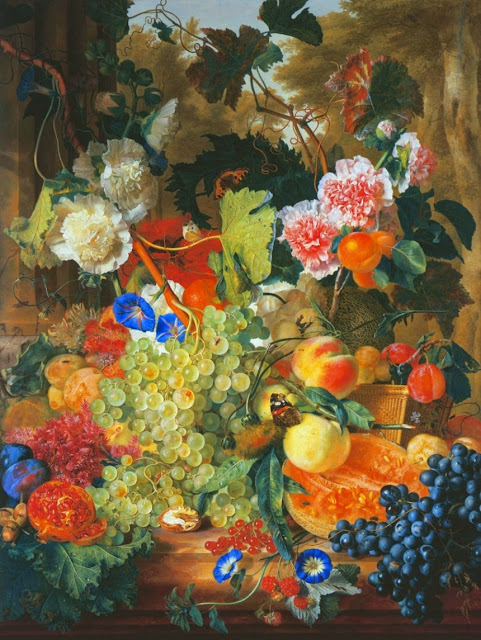 Jan van Huysum - Fruit Flowers and Insects