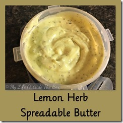 Lemon Herb Spreadable Butter
