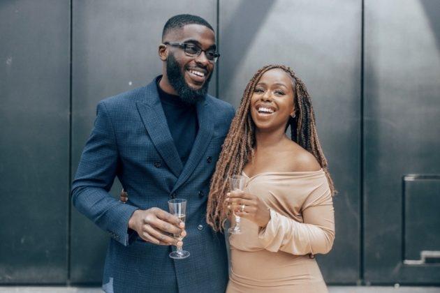 A beautiful black couple