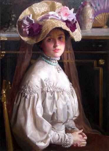 William McGregor Paxton - My Wife, Elizabeth, 1899