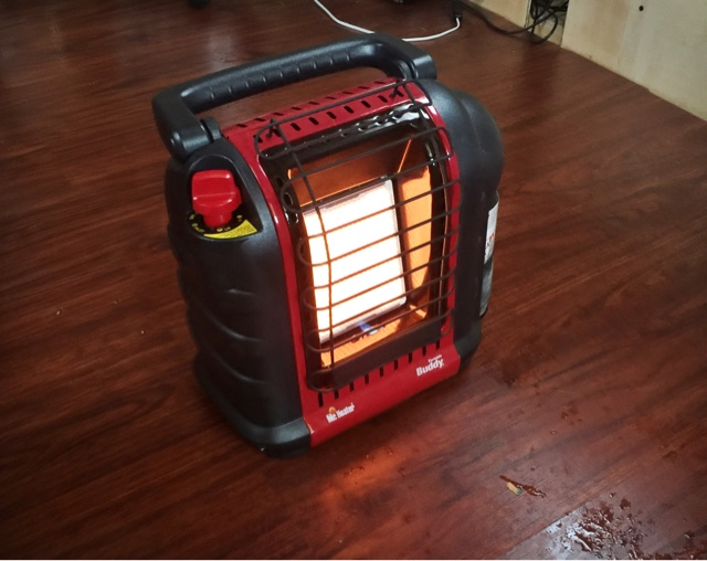tiny house heating, Mr heater buddy heater