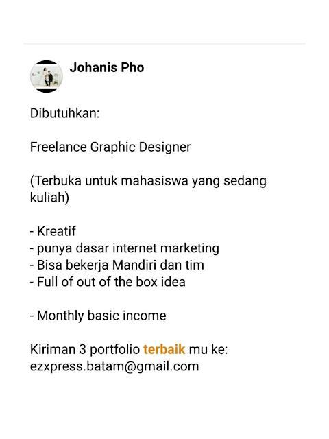 Dibutuhkan Freelance Graphic Designer