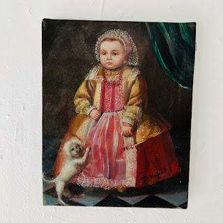 P. Laforêt Signed Miniature Child Portrait