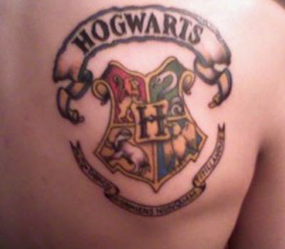Harry Potter on Chest Tattoo