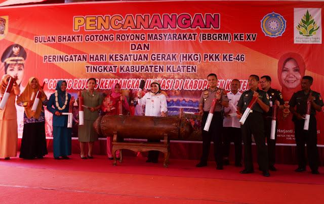 Pencanangan BBGRM ke XV dan Peringatan HKG PKK ke 46, Gotong Royong Kembangkan Inovasi Klaten