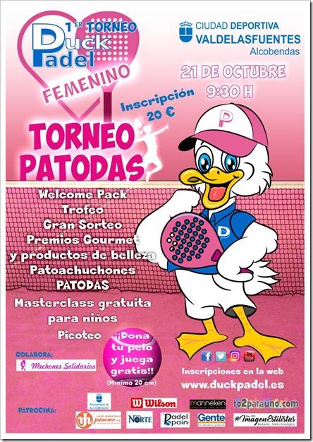 """""""PATODAS"""" El 1º torneo femenino de la mascota Duck Padel en colaboración con mechones solidarios."""