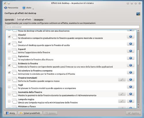 Kubuntu 12.04 Precise LTS - Effetti