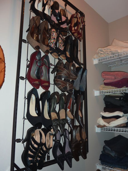 Shoe Rack from Crib Springs