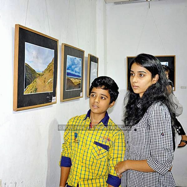 Ajinkya and Aakansha at Ravindra Puntambekar's photography exhibition in Indore.