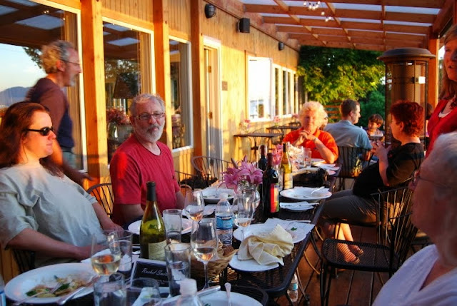 Enjoying a meal at sunset at the Willows InnCredit: Bellingham Whatcom County Tourism