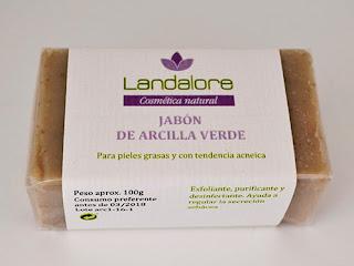 Jabón Natural de Arcilla Verde Landalore