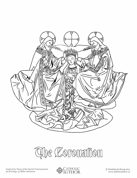 Immaculate Heart Of Mary Coloring Page Catholic Playground  Free Hand