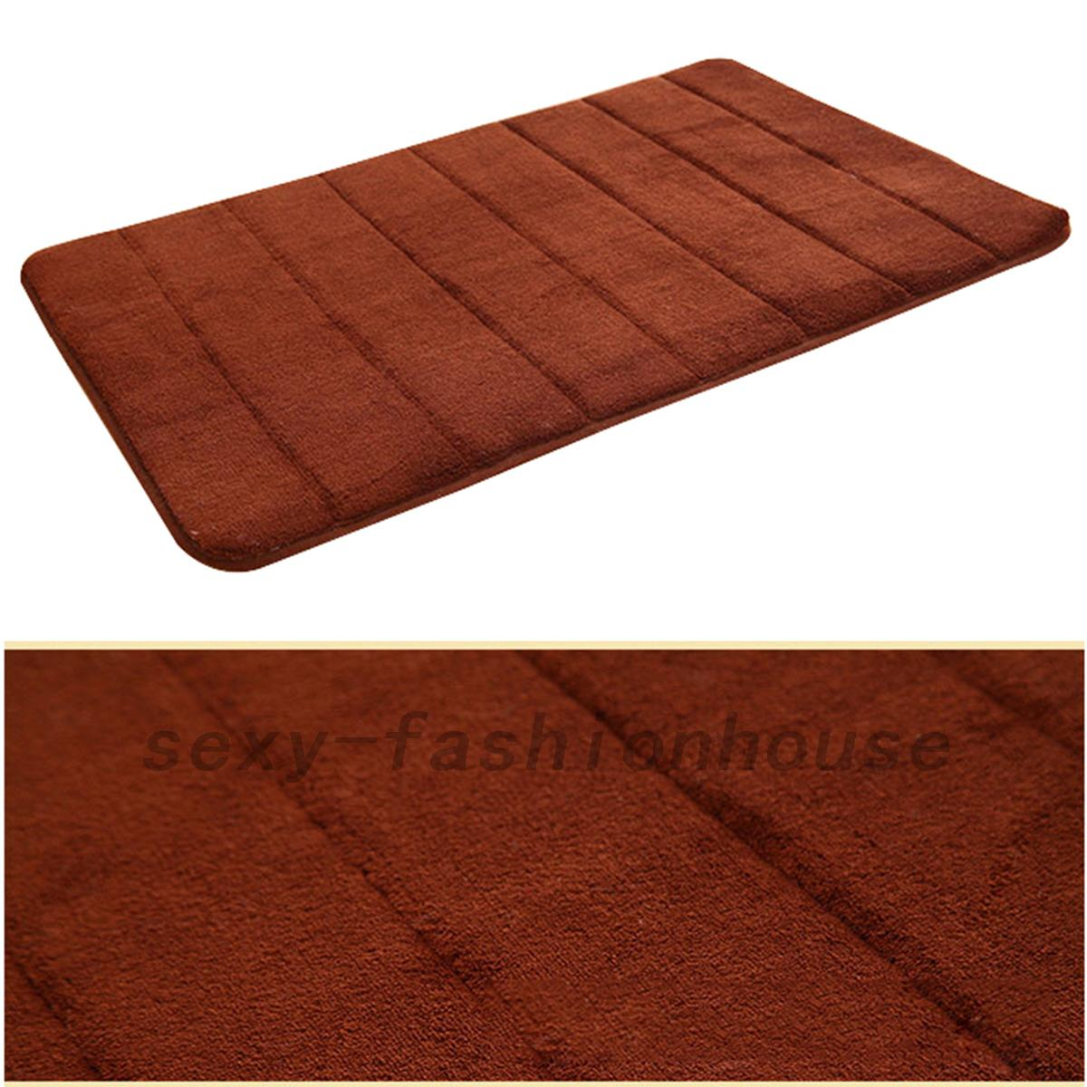 Memory Foam Non-slip Floor Mats Bath Shower Carpet ...