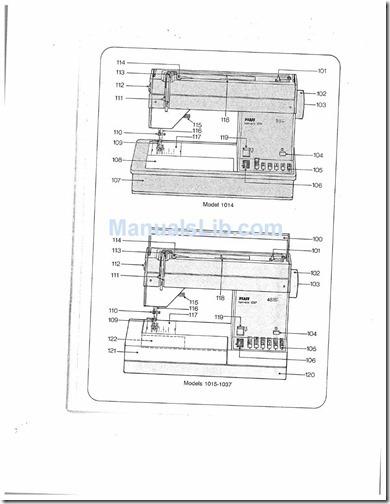 pfaff tipmatic 1014, 1015, 1019, 1035. 1037 manual maquina