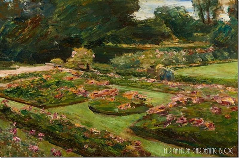 Max Liebermann, Flower Terrace in the Garden, Wannsee, 1915