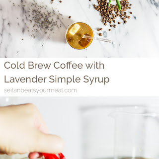Cold Brew Coffee with Lavender Simple Syrup.