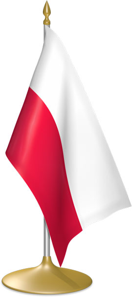 Polish table flags - desk flags