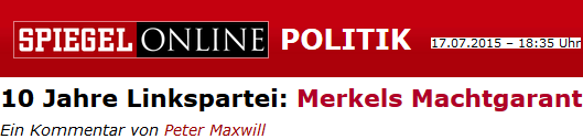 Linkspartei: Merkels Machtgarant